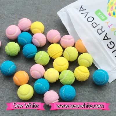 Sew White Sugarpova Sharapova tennis balls sweets 2