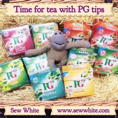 Sew White pg tips fruit, herbal green teas
