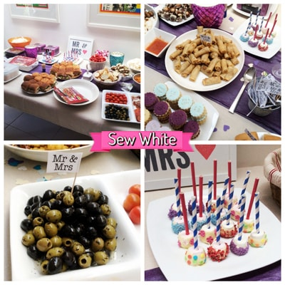 Sew White surprise wedding anniversary party 5
