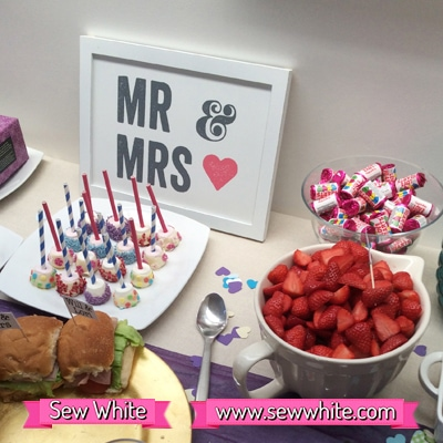 Sew White surprise wedding anniversary party food 3