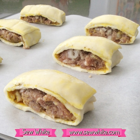 Sew White Colman's mustard 200th anniversary sausage rolls 4