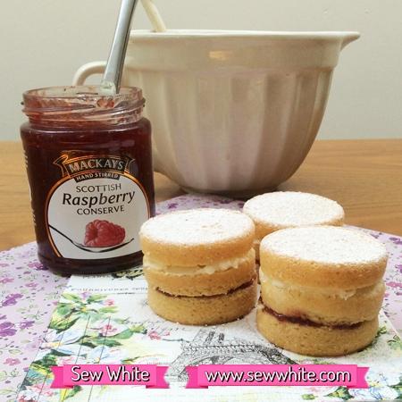 Sew White mackays jam mini cakes recipe 3