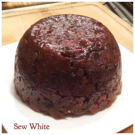 Sew White Christmas pudding 2