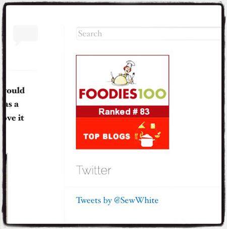 Sew White foodies100