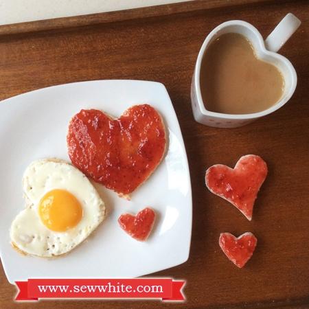 Sew White Hartley's Jam Valentine's Day breakfast 6