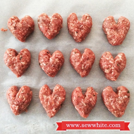 Sew White Oxo Good Grips Valentine's Day dinner 1