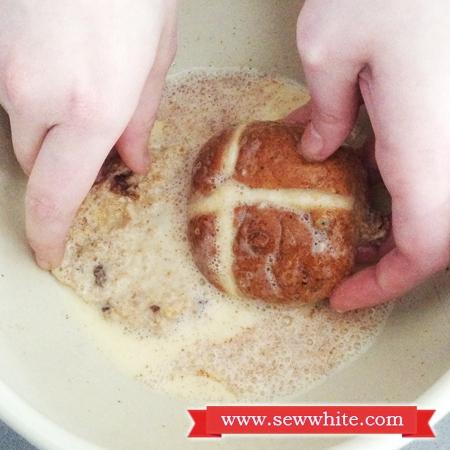 Sew White Hot Cross Bun French Toast 3