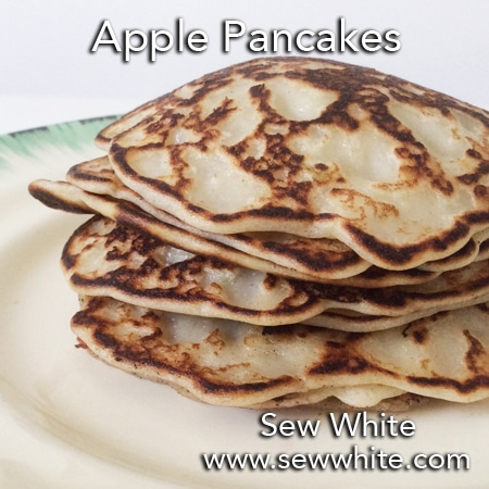 Sew White apple pancakes recipe fruit salad mothers day 3