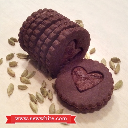 Sew White cardamom chocolate biscuits 1