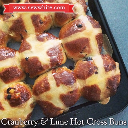 Sew White cranberry and lime hot cross buns recipe 1