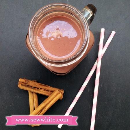 Sew White Raspberry Chocolate and Cinnamon Milkshake recipe 3