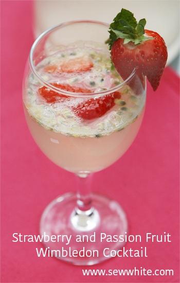 Sew White Strawberry, passion fruit wimbledon cocktail 11