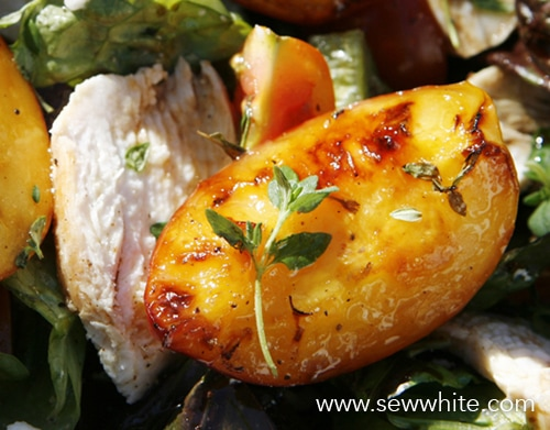 Sew White grilled nectarine chicken and parma ham summer salad 4