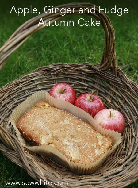 Sew White Apple, Ginger and Fudge Autumn Cake recipe 1