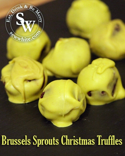Sew White Brussels Sprouts Christmas Truffles 1