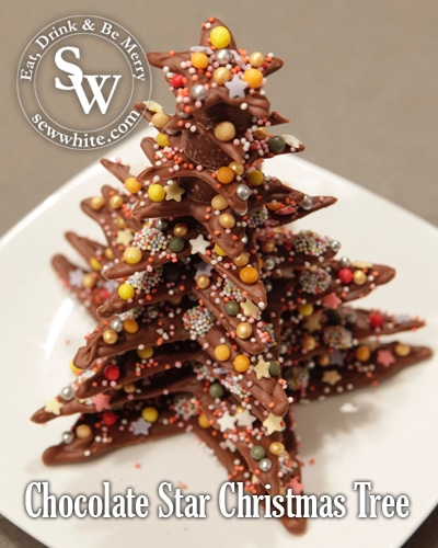 Sew White Chocolate Star Christmas Tree 1