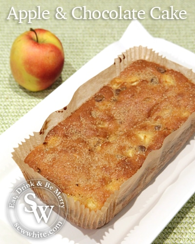 Sew White apple and chocolate cake 1