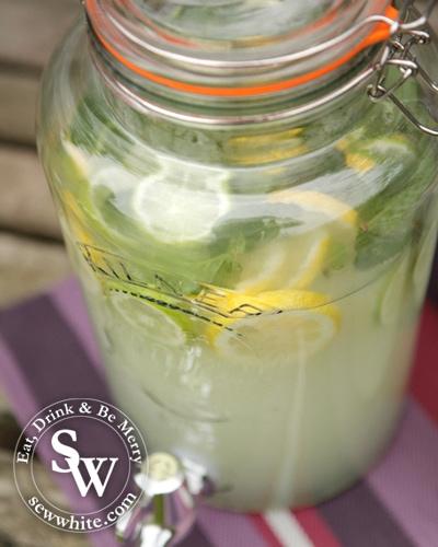 Sew White spring gin lemonade 3