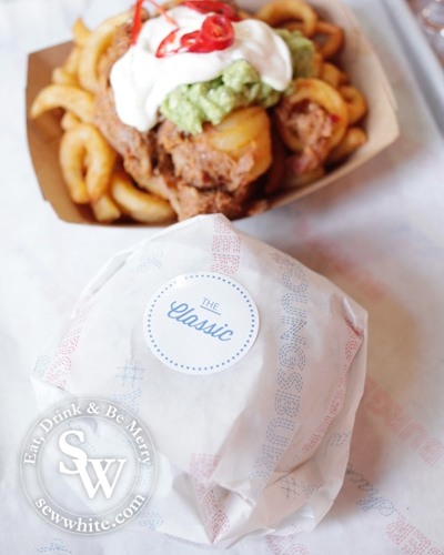 Sew White Burger Shack The Loft Wimbledon review 1