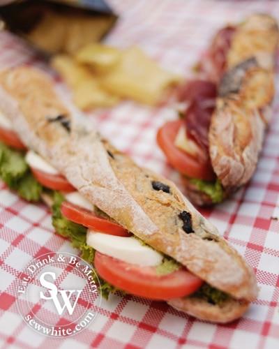 Sew White sewwhite Paul Bakery picnic 4