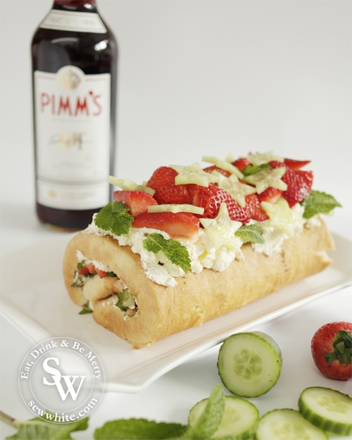Pimm's Roulade in the pimm's salad round up