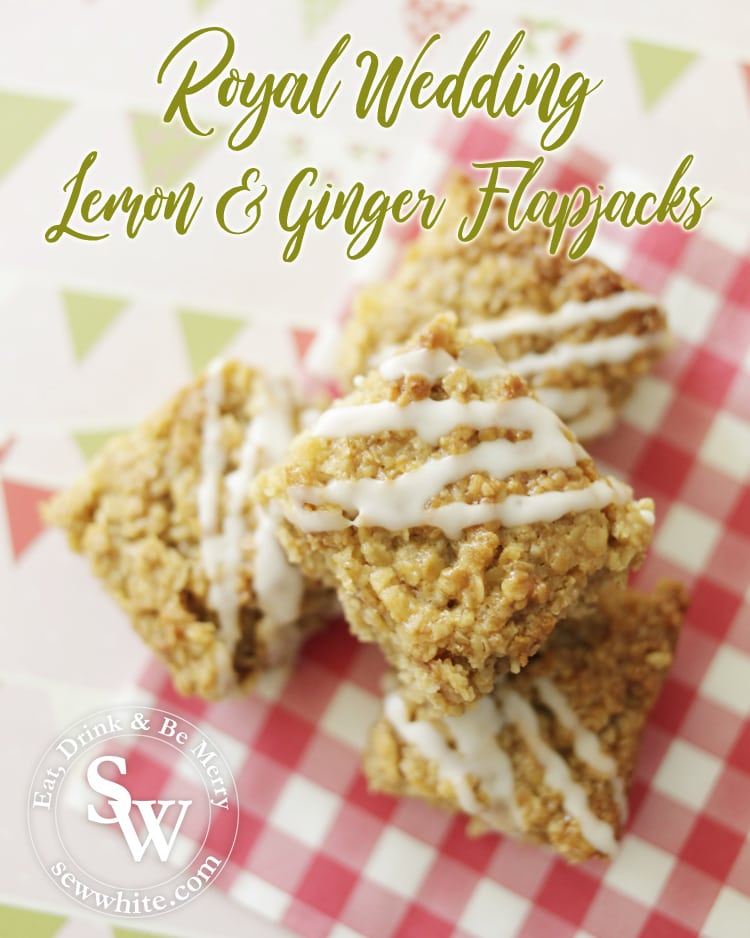 Royal Wedding Lemon and Ginger Flapjacks
