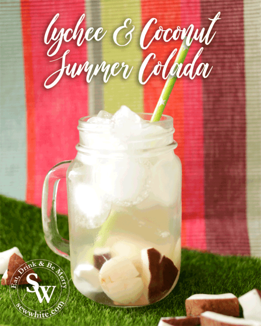 ciroc colada vodka with coconut and lychee cocktail by Sew White