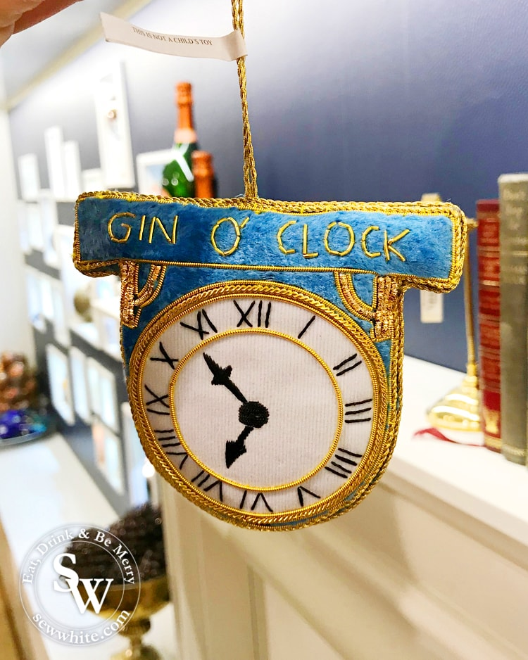 Foodie Christmas decorations gin o clock presents for gin lovers