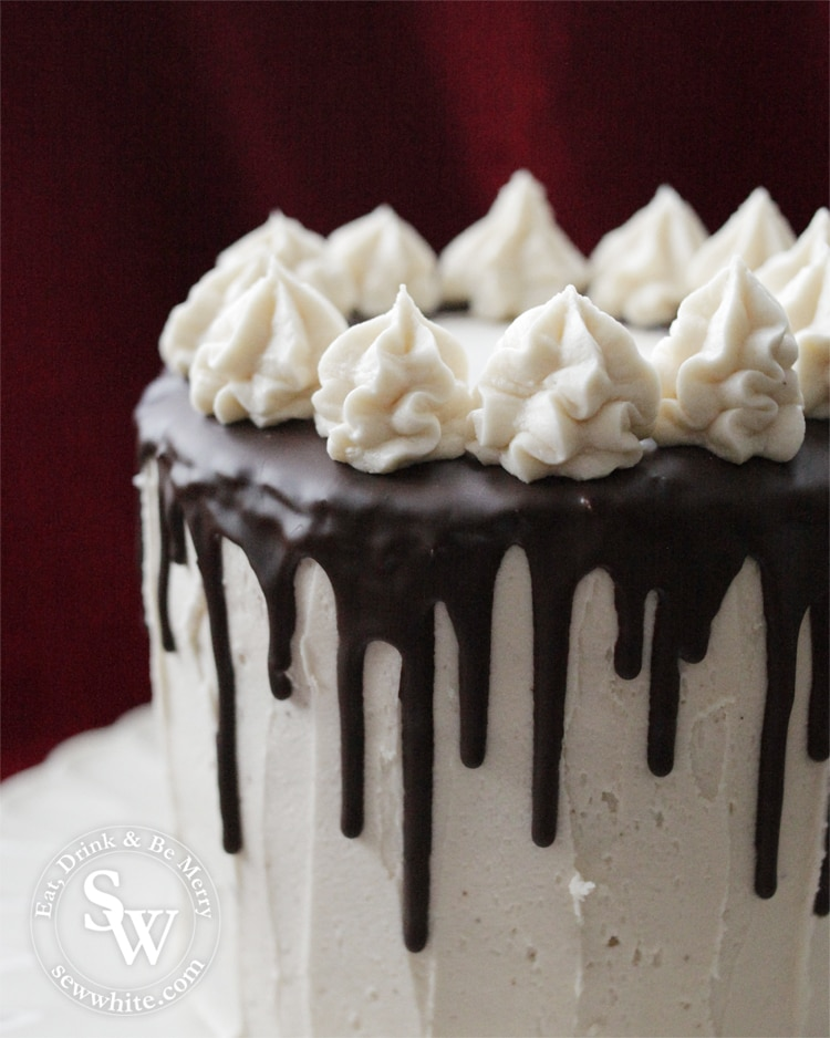 Easy Black Forest Cake - christmas drip cake