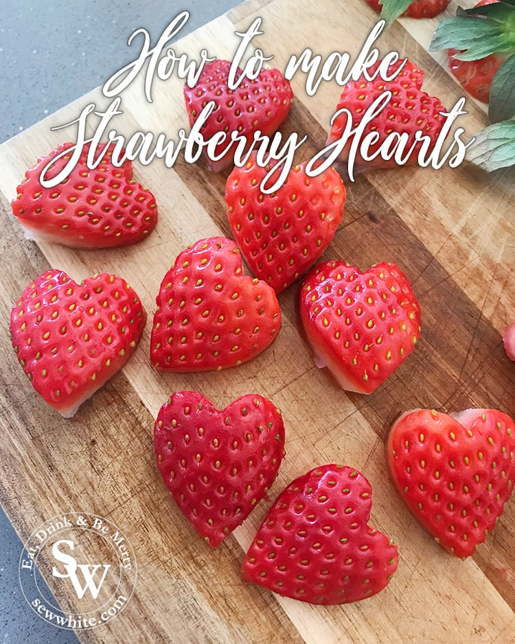 How to make Strawberry Hearts for Decorating Cakes