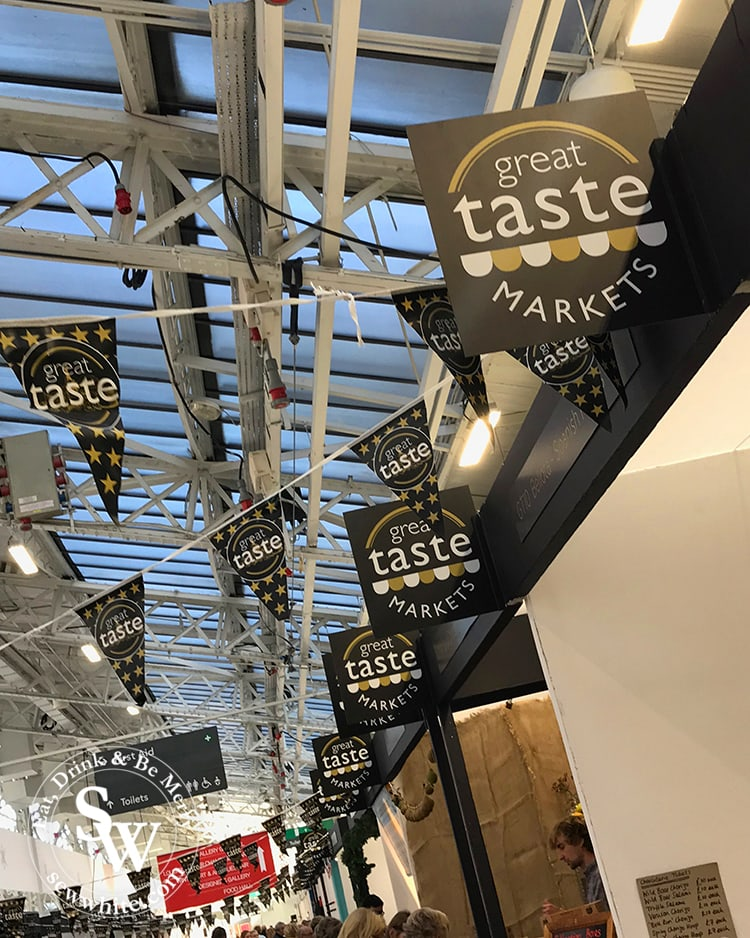 Great taste award winners at the Spirit of Christmas Fair Olympia in London in 2018.