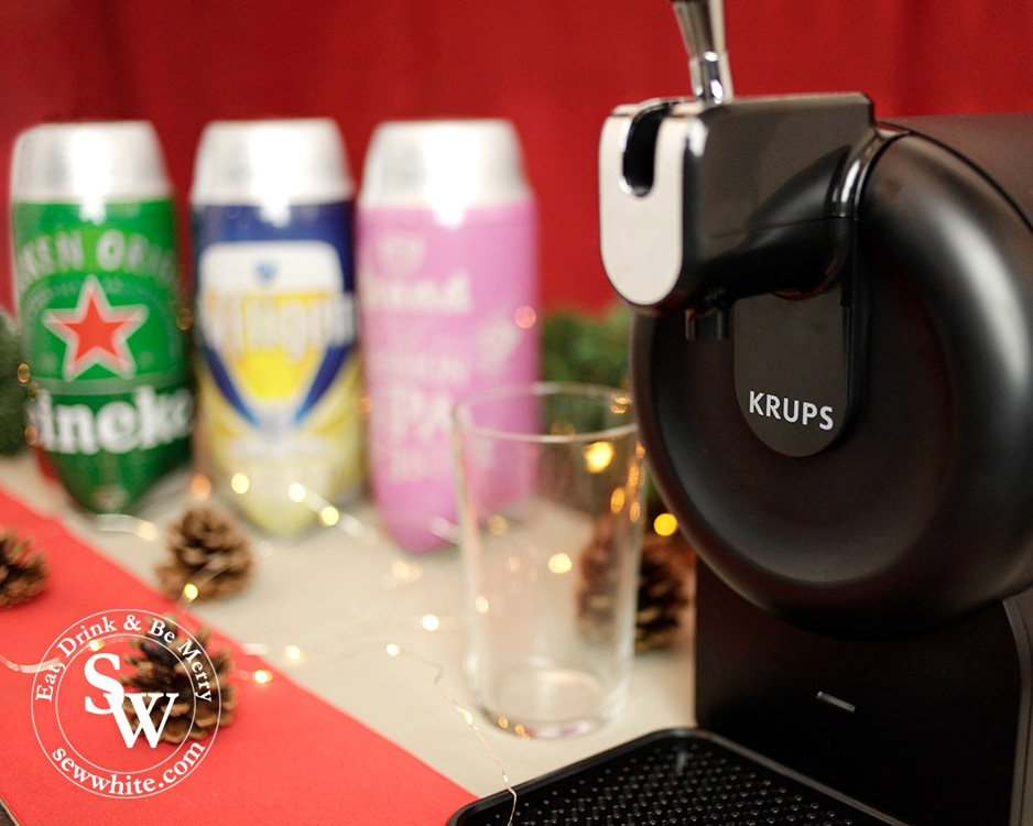 Beer Wulf beer tap at home with krups machine in the Top 5 Drinks for Christmas 2019