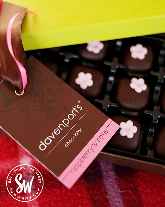 Davenports raspberry and rose  chocolates for Valentine's Day Gift Guide with