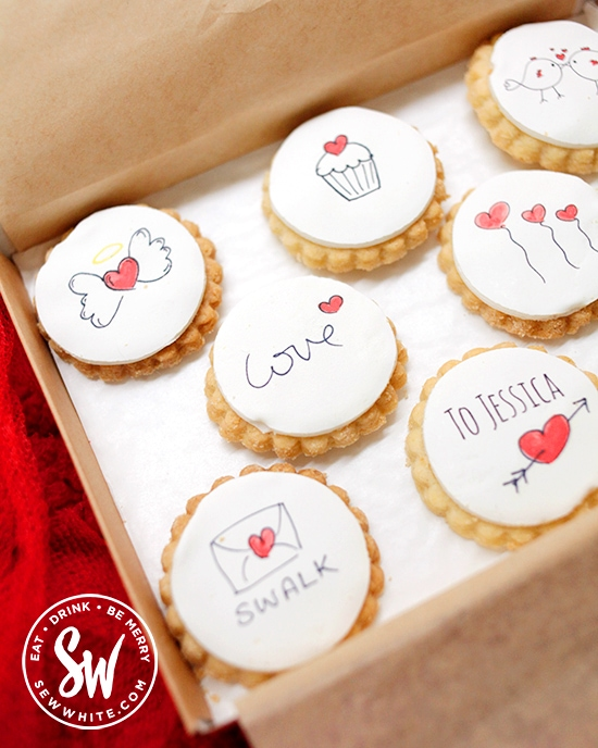 The cutesy personalised biscuits by Bumble and goose in the Valentine's Day Gift Guide 2020