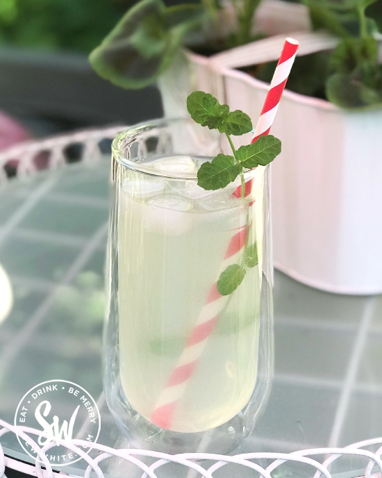 white rum elderflower cocktail
