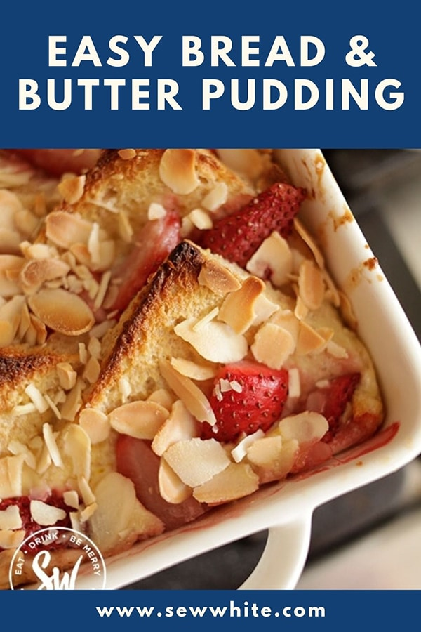 easy bread and butter pudding pin