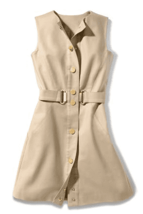 Michael_Kors_snap_front_stretch_cotton_dress