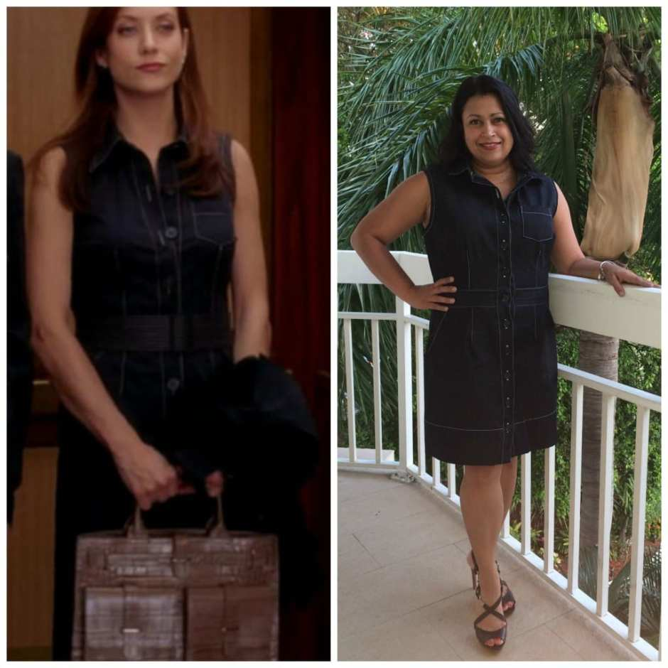 Black Denim Button-Down Shirt Dress As Worn By Addisson Montgomery On Revenge