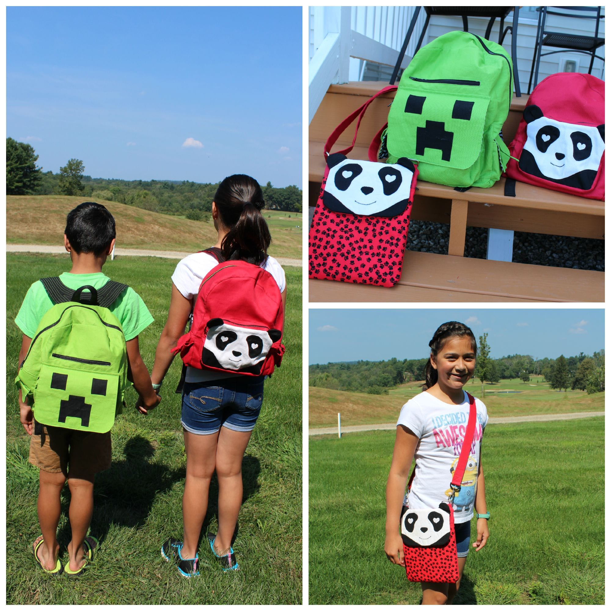 DIY Panda and Minecraft Backpack