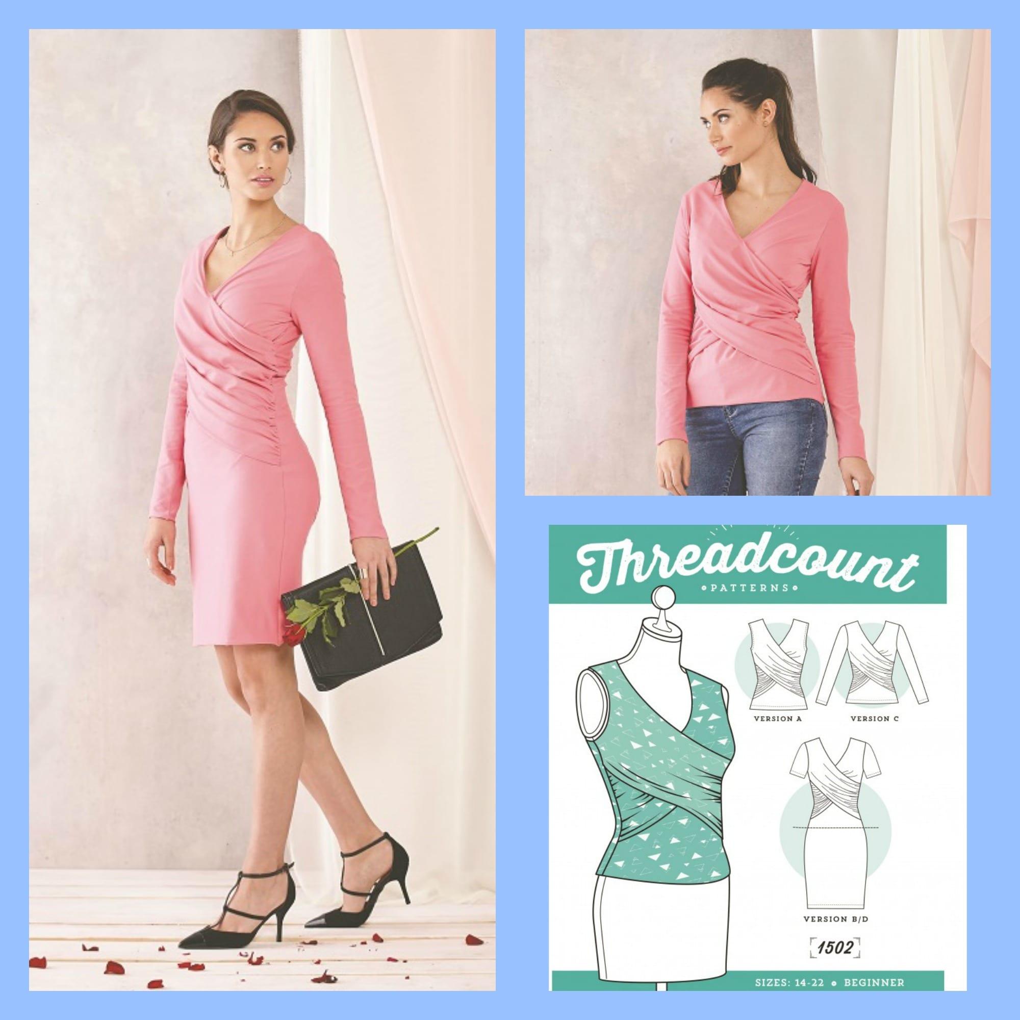 Wrap Dress Sewing Pattern & Top