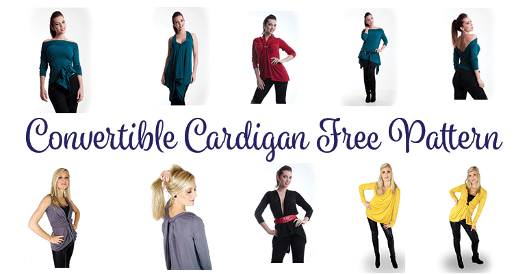 DIY Convertible Cardigan and Free Pattern – One piece, 23 looks