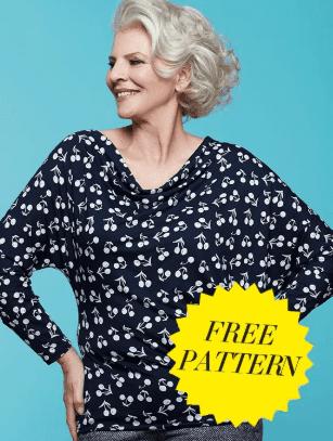 Japanese Top Free Sewing Pattern