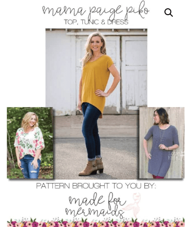 Mama Paige Piko Free Tee Sewing Pattern