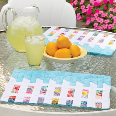 Picket Fence Placemats Pattern