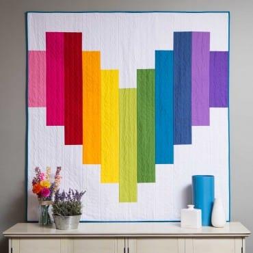 Piece of My Heart Strip Quilt Pattern