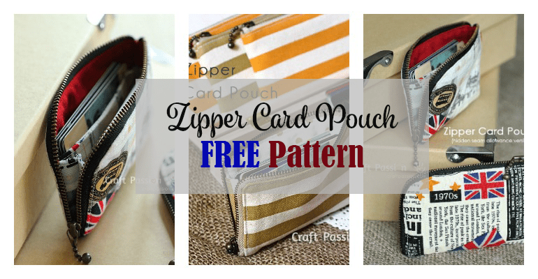 Zipper Card Pouch free pattern