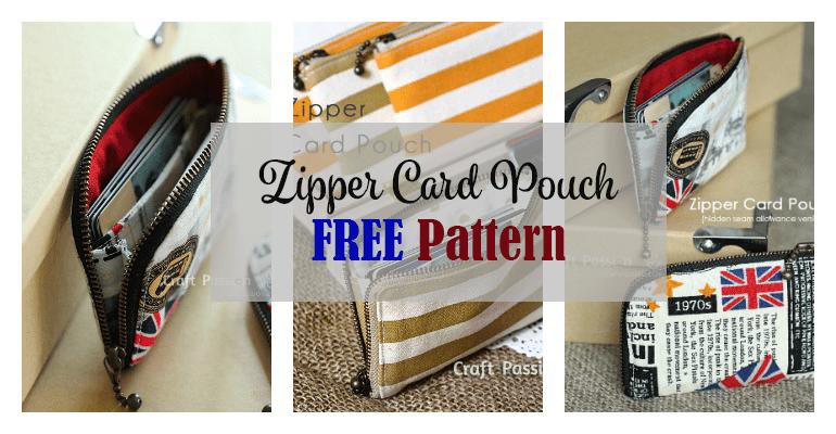 Zipper Card Pouch free pattern