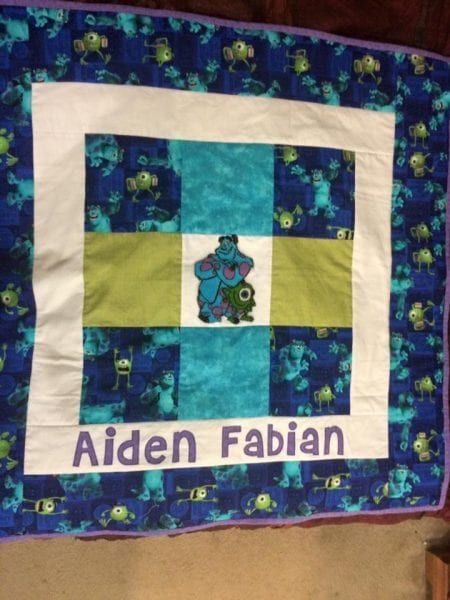 Monster Inc Baby Quilt
