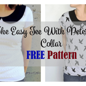 easy tee with peter pan collar