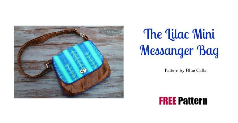 lilac mini messenger bag